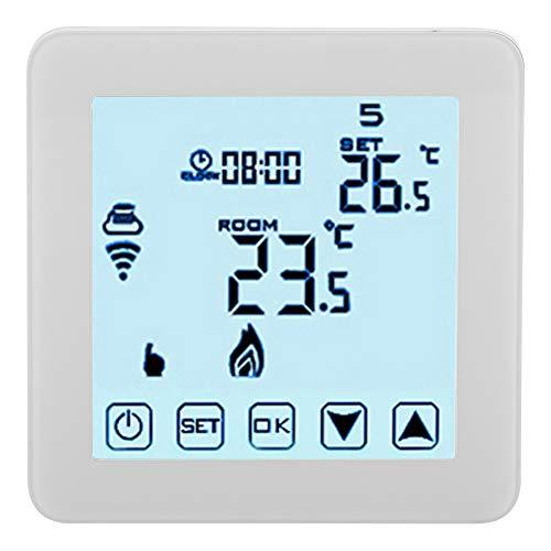 Termostato Programable Wifi Termostato LCD Blanco Válvula Solenoide Retardante de Llama para Válvula Térmica Válvula Motorizada Válvula de Bola Motorizada
