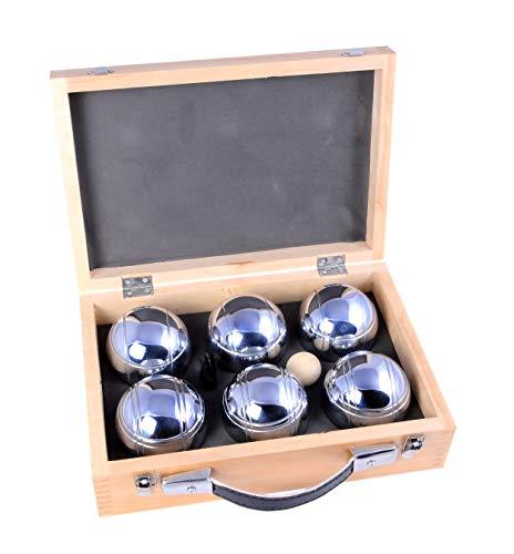 Engelhart - 010205 - Triplett boule kugeln set - in einem schönen Holzkoffer, 2 spieler: 2 x 3 stuck