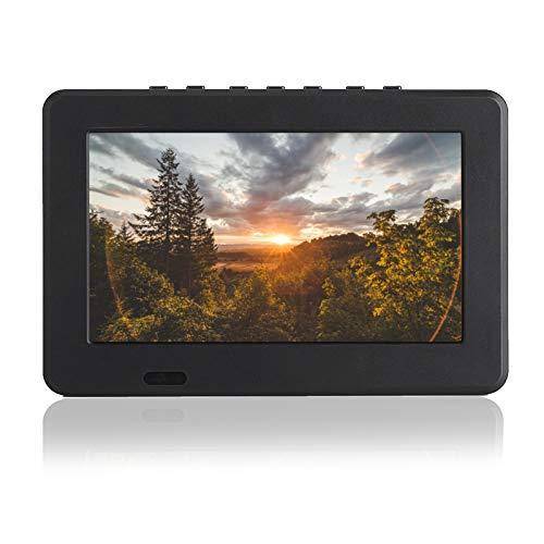 TV Digitale analogica T-T2, Televisione LED TFT a Colori da 7 Pollici, TV Portatile Portatile con risoluzione 800x480, televisore per Auto Sottile per Video RMVB/Avi/MPEG/MKV/MOV 1080P