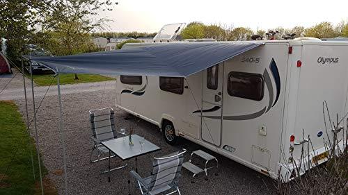 Toldo universal Wild Earth para caravana o autocaravana, 240 x 300 cm, color gris plateado