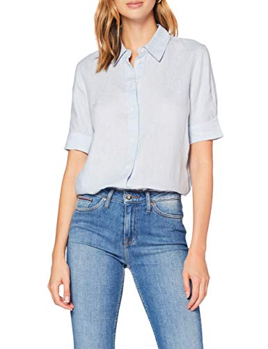 Tommy Hilfiger Mujer TH Essential Penelope Shirt SS Camiseta Not Applicable, Azul...