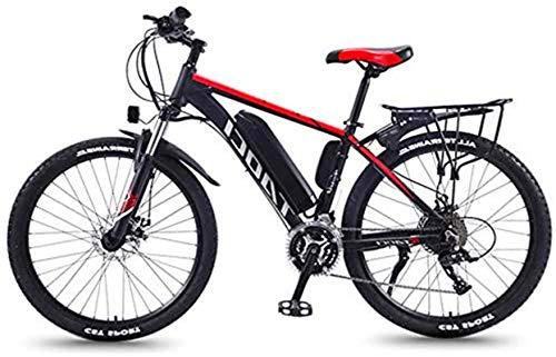 Bicicleta eléctrica de nieve, 350W 26 pulgadas bicicleta eléctrica Montaña Beach moto de nieve for adultos, aluminio Scooter eléctrico engranaje Ebike con 36V 13Ah extraíble de iones de litio de la mo
