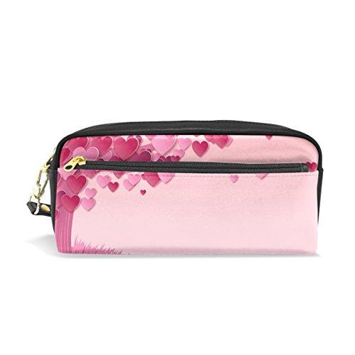 Isaoa Trousse de voyage Sac de maquillage, Rose Arbre fabuleux Amour, grande contenance léger Portable Sac cadeau pour enfant fille femme