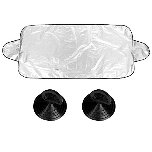 Qii lu Car Sun Shade Cover, 200 * 70cm 190 Silver Coating Cloth Car Window Protector Sun Visor
