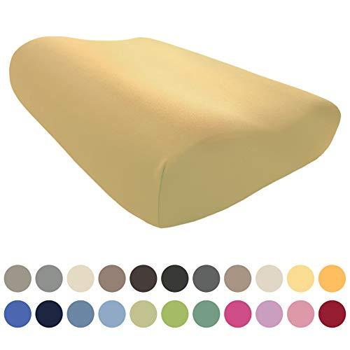EddaLux Bezug für Tempur ORIGINAL S/M/L/XL Schlafkissen | Hochwertiger Jersey-Kissenbezug für Nackenstützkissen | 50x31 cm | 50x30 cm | 100% Baumwolle | viele Farben
