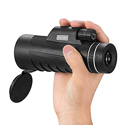 Occer 10X42 High Power Monocular Telescope HD Dual Focus Scope, Waterproof Compact Monocular with BAK4 Multi-Coated Zoom Lens, Low Night Vision for Hunting Bird Watching Camping Outdoor Sporting from occer