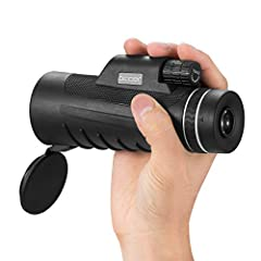 High power focus monocular. With 10x magnification and 42mm objective lens, you can see 10x closer with a clearer and brighter image, enjoy the beauty of the distance, and you will gain a amazing viewing experience. Large eyepiece and fully multi-coa...