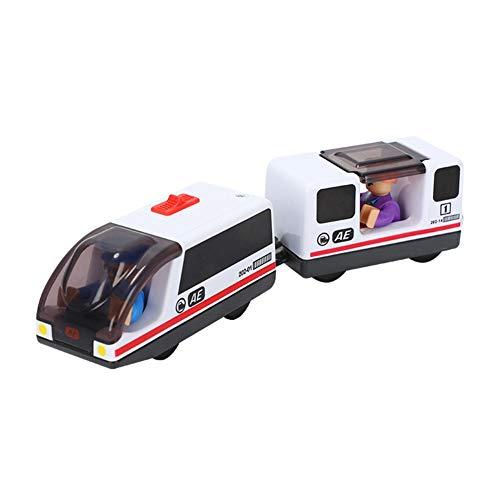 Tren eléctrico para niños, tren de mercancías con conexión magnética Locomotora, tren eléctrico con batería, juguete para tren eléctrico, modelo con mando manual