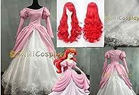 ディズニードレス人魚姫アリエルドレスプリンセス ☆コスプレ衣装 全セット ウィッグ 追加可
