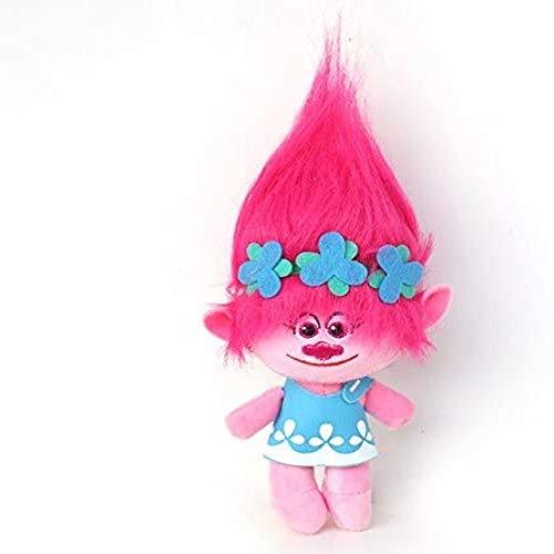 Xiulove Peluche de Felpa Grande de 40 cm, película de Trolls, Amapola, Amapola, muñeco de Peluche, muñeco de Peluche Suave, Troll de la Buena Suerte, Regalo para niños para niños