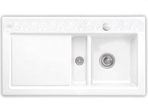 Villeroy & Boch Subway 50 White Pearl Keramik-Spülbecken Muster Weiß Spüle Küche
