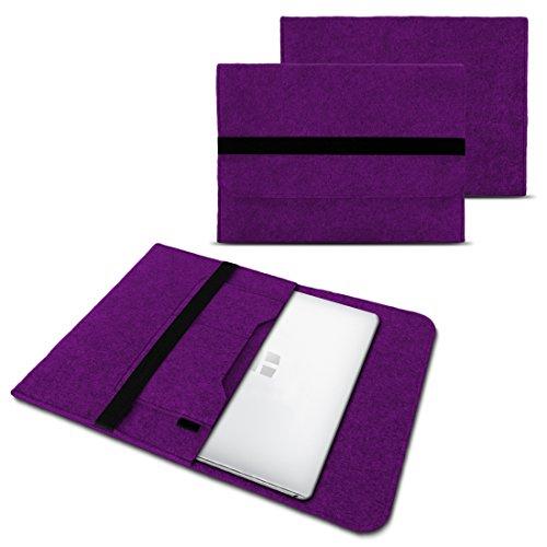 NAUC Laptoptasche Sleeve Schutztasche Hülle für Trekstor Surfbook W1 W2 Netbook Ultrabook 14,1 Zoll Laptop Filz Hülle, Farben:Lila