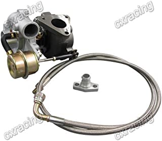 GT15 T15 Turbo Charger + Oil Feed Line Drain Flange Kit