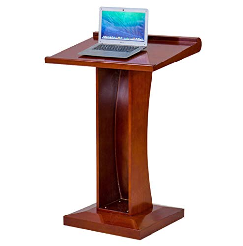 Lectern The Wood Texture Is Fine And Smooth Angled Desktop Design Thickened Base Standing Podium Suitable For Lectures, Banquets, Presentations, Meetings Red-brown