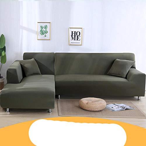 KKDIY Funda de sofá para Sala de Estar Funda elástica en Forma de L Chaise Longue 1/2/3/4 Asientos Funda para sofás Fundas elásticas-009, Seater3 (190-230CM), ESPAÑA