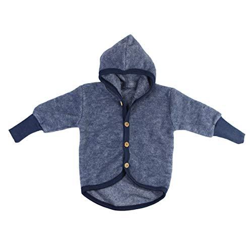 Cosilana Baby Fleece-Jacke mit Kapuze kbT Wolle Bio Baumwolle (74-80)