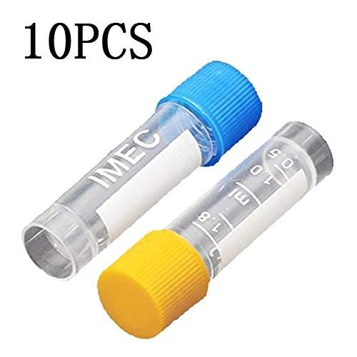 SALAKA 10 Stück 1,8 ml Kunststoff-Messröhrchen Labor-Röhrchen 0,063 Unzen Probenröhrchen