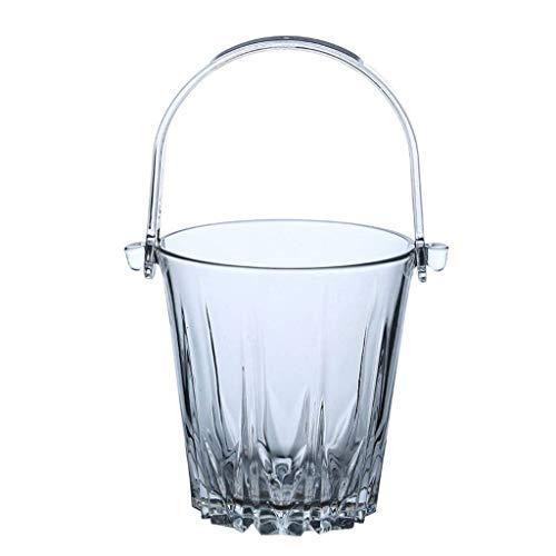 ZSQHD Cubo De Hielo - Cristal Cubo De Hielo Cubo De Hielo con El Clip De La Manija De Hielo Cubo De Hielo Vino Sin Plomo