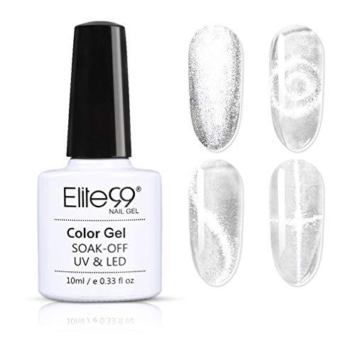 Elite99 Esmaltes Semipermanentes de Uñas en Gel UV LED Ojo de Gato, Esmaltes de Uñas Cat Eye 10ml 41001