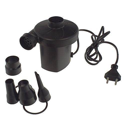 Smartfox Elektrische Luftpumpe 150W, 220-240V 50Hz, Elektropumpe und Gebläsepumpe, 4 Adapteraufsätze, schwarz