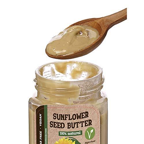Mantequilla de Semillas de Girasol 8 onzas (230gr)   Sin Azúcar Añadido   100% Superalimento   Libre de Lácteos   Sin Nueces   No GMO