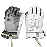 """Epoch Integra Pro Lacrosse Gloves for Goalies with Dual-Density Foam and Adjustable Wrist, 12"""", Medium, White"""