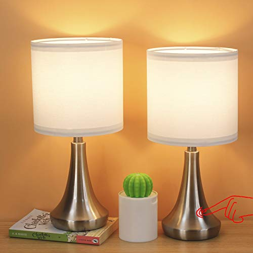 AMUV Table Lamps for Bedroom Set of 2
