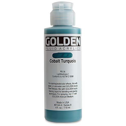 Golden Acrylic: Acrílico Fluido: 119ml. (Botella) Turquesa Cobalto