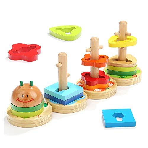 WFF Spielzeug Baby-Baustein Spielzeug, Lernspielzeug for mehr als 12 Monate, Early Education Spielzeug zu entwickeln Intelligenz und Hand-Augen-Koordination (Color : 3pieces)