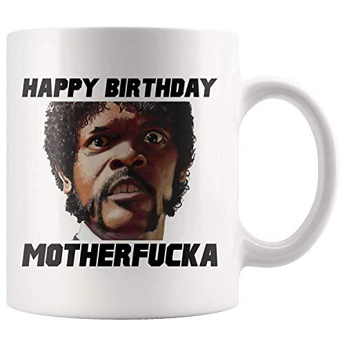 Lawenp Pulp Fiction Quentin Tarantino Samuel L Jackson 40th Birthday Mug Taza de café de cumpleaños Películas de los 90 Cumpliendo 40 35th Birthday 40th Bday Taza de té, 11 oz, Blanco
