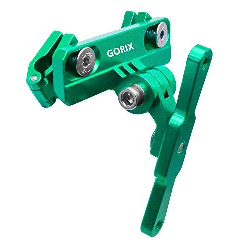 GORIX Bicycle Bottle Cage Adapter Mount Adjustable MTB Road Bike Handlebar Water Bottle Holder Seat Post Mount (GX-SDLBC) (Green)