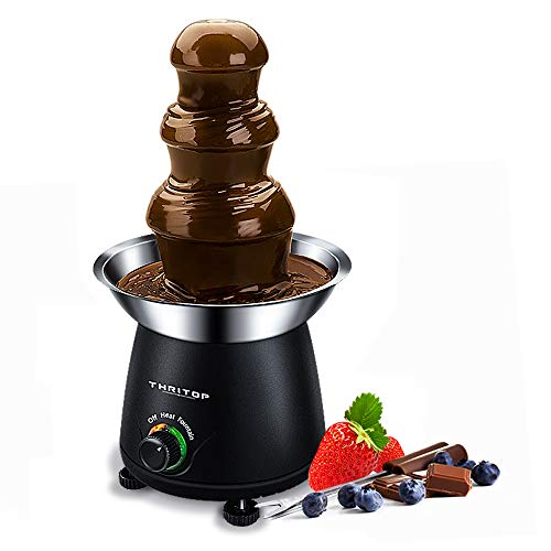 THRITOP Chocolate Pro Fountain,3-Tier Stainless Steel Tower Chocolate Fondue, Fountain kit 11'...