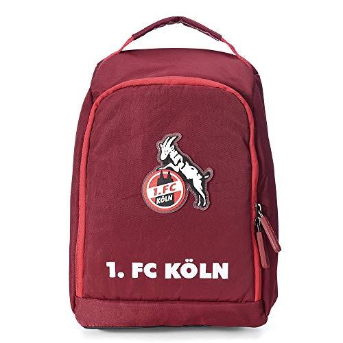 1. FC Köln Kulturbeutel Bordeaux, Waschtasche, Wash Bag - Plus Lesezeichen I Love Köln