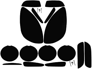 Subject 9 - Fits: Corvette (Base) Pre-Cut Vinyl Overlay Complete Headlight and Taillight Plus (2005 2006 2007 2008 2009 2010 2011 2012 2013) Dark