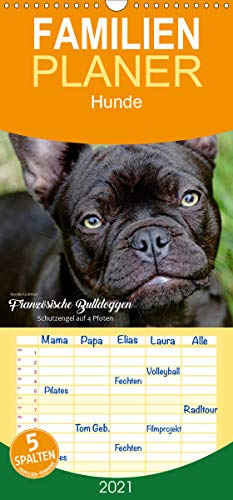 Französische Bulldoggen - Schutzengel auf 4 Pfoten - Familienplaner hoch (Wandkalender 2021 , 21 cm x 45 cm, hoch): Die Fotografin Kerstin Grüttner ... (Monatskalender, 14 Seiten ) (CALVENDO Tiere)