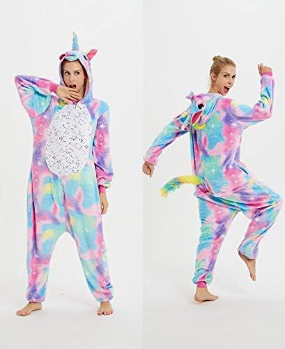 Tisi Unisex Disfraz Unicornio Anime Animal Cosplay Sudadera Onesie Adulto Pijamas Anime Vestir Dibujos Animados Fiesta Halloween Ropa de dormir para ...