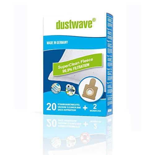 dustwave® - Bolsas de fieltro para aspiradora Hoover H58 H63 H64, TFS 5100 hasta 5299, Freespace, Sprint, 20 unidades