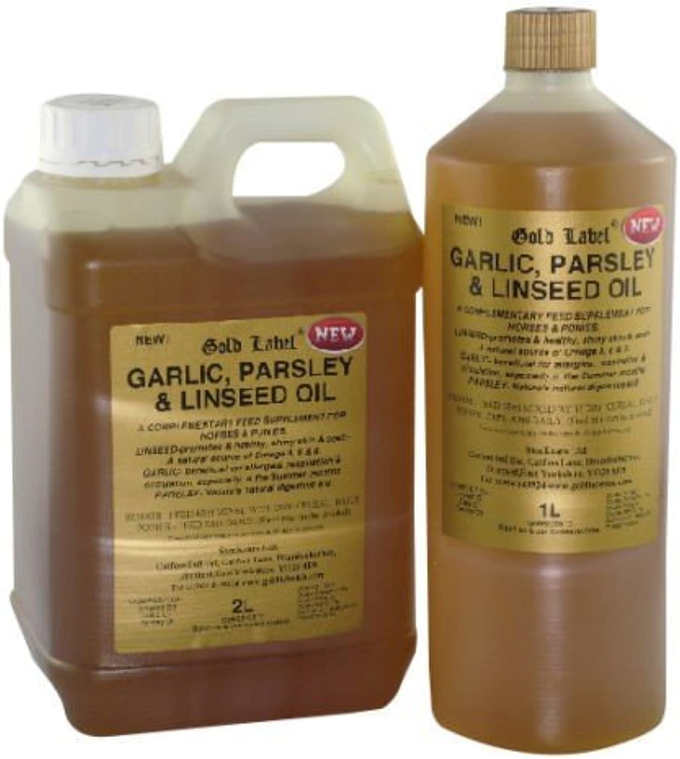gold Label Garlic, Parsley & Linseed Oil x Size  5 Lt
