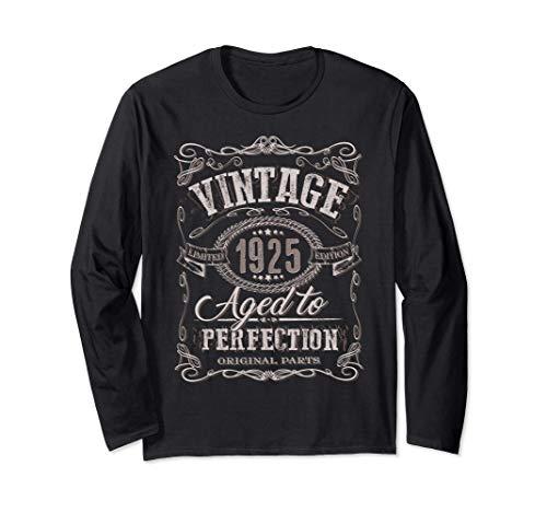 96 ° regalo di compleanno Vintage 1925 Età 96 anni Maglia a Manica