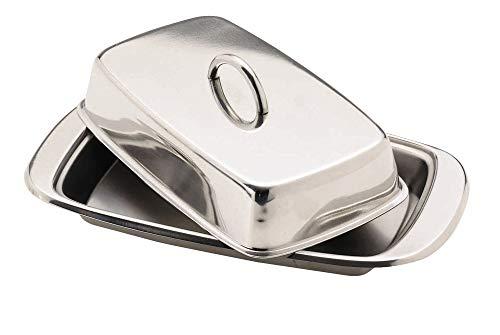 KitchenCraft Plato para Mantequilla con Tapa de Acero Inoxid