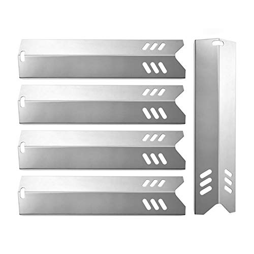 SHINESTAR 15 inch Grill Replacement Parts for Dyna-Glo DGF493BNP, Heat Shield for Backyard Grill BY13-101-001-13, BY15-101-001-02, Uniflame GBC1059WB, Durable Stainless Steel Heat Plate, 5-Pack