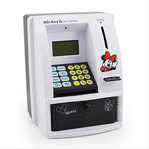Yzhongx Caja De Dinero De La Novedad Hucha Grande,CajeroAutomático Ahorre Dinero Niños Niños Máquina Inteligente De Acceso De Voz Regalo Creativo De Dibujos Animados