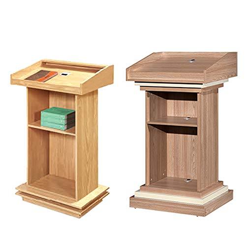 JRPT Rednerpult 25Mm Platte,Welcome Desk Großer Raum,Stehpult Mit Bücherregal Multifunktion Mehrfachauswahl Einfache Montage/braun / 50×70×120cm