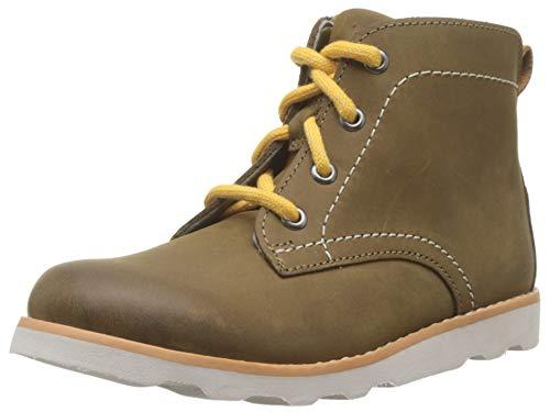 Clarks Jungen Crown Hike T Klassische Stiefel, Braun (Tan Leather Tan Leather), 27.5 EU