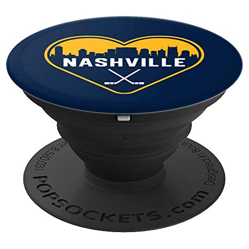 Cute I Love Nashville Hockey Heart Skyline PopSockets Grip and Stand for Phones and Tablets