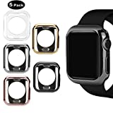MAIRUI Compatible with Apple Watch Case 38mm [5 Pack] Protector Bumper Cover TPU Ultra-Slim Lightweight for iWatch Series 3/2/1, Sport/Edition