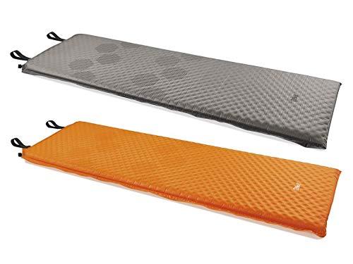 Crivit® Selbstaufblasende Thermomatte Camping Matte Outdoor Matte Aufbalsbarematte Isolation gegen Bodenkälte Anti-Rutsch-Silikonbeschichtung (Orange)