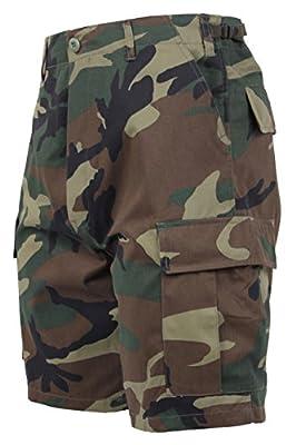 Rothco Camo BDU Shorts, Woodland Camo, L