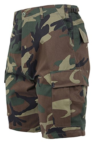 Rothco Tactical BDU (Battle Dress Uniform) Military Cargo Shorts, Woodland Camo, L