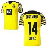 PUMA Borussia Dortmund BVB Heimtrikot 2021 2022 Home Trikot Sponsor BL Logo Herren Nico Schulz 14 Gr M